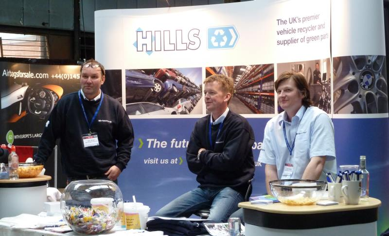Hills stand at CARS event with BigAnt Video Sapphire Events and IRT